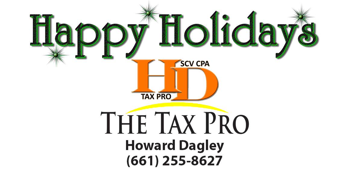 Happy Holidays! Happy New Year! – Howard Dagley CPA