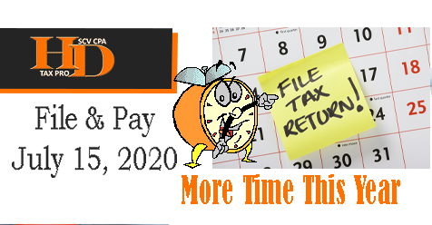 Did You Know? July 15, 2020 Deadline | Howard Dagley, CPA | Don't Get Scammed