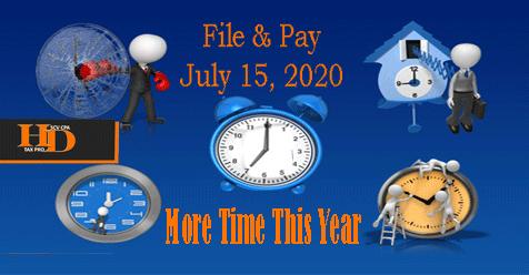 Extend filing Deadline News – Howard Dagley, CPA